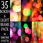 BOKEH AND LIGHT BEAMS PACK by simoneyvette