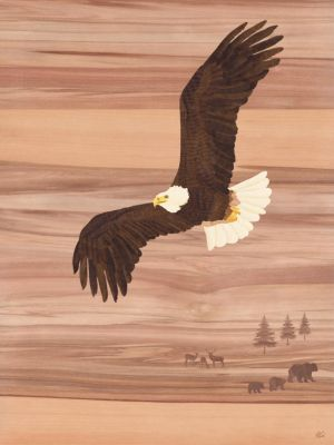 Soaring Eagle - Marquetry Art by amazoncanvas