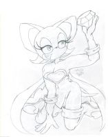 Rouge the bat and her gem by MekoNekoAnime1