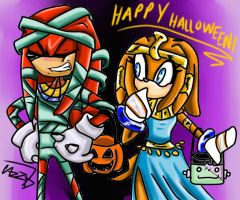 Knuckles Holloween by Kiki-the-cat-demon