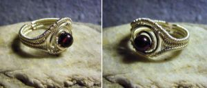 Crystallized Blood - Adjustable Ring by Carmabal