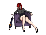 Parasoul Seated by healerdoc