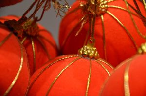 Christmas baubles by LarkinRowen