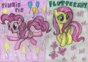 Pinkie and Flutter by Fluttershy626