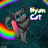 Nyan Cat by lillithsong