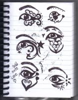 eyeliner designs by InkIsMyPassion