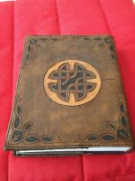 Tooled leather Bible cover (removable) back view by lbaker22