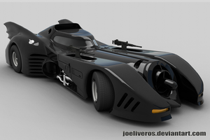 1989 Batmobile: Test Render # 2 by joeliveros
