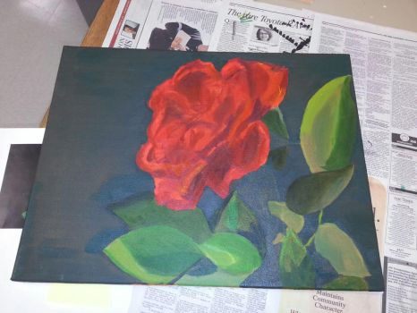 Unfinished Rose by shann071090