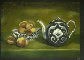 Still life with teapot by Cunami-in-october