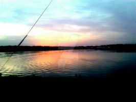 Lake Texoma at sunset by tracieodette