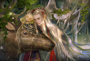 Thranduil and  Legolas by weed1012