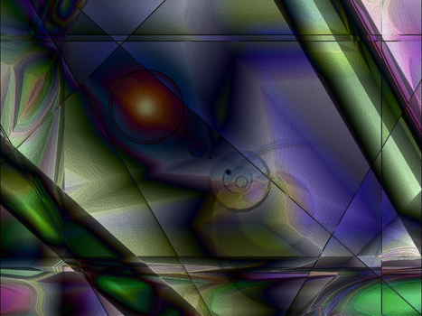 Playing with GIMP: 'lluvia' by duvelr