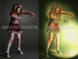 Zombie Cheerleade 5 by mjranum stock // retouching by remains