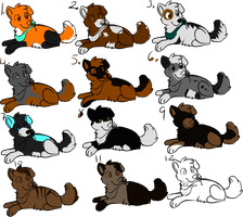 Puppy adoptables :.Open.: by FafnirtheDragonLord