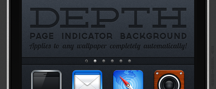 Depth: Page Indicator background by jonarific