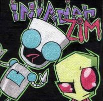zim and gir. by happycabbage777