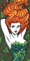 Poison Ivy Hand Colored Print by RichBernatovech