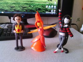 Flame Princess, Simon Petrikov, Marceline by SmilePS