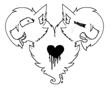 FREE! Split Personality Cat LineART by InsaneCuteKitty