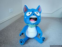Angry Seated Happy plush from Fairy Tail by waynekaa