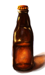 Bottle Painting Practice by Onewingedjeeby