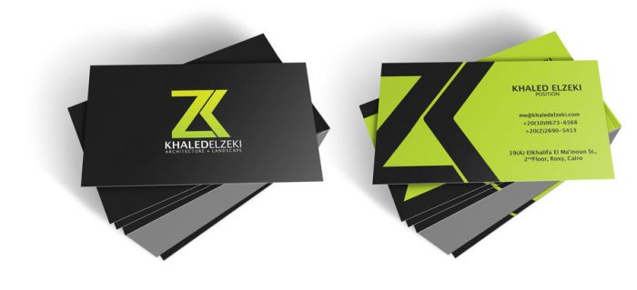 Khaled El Zeki Card by XtrDesign