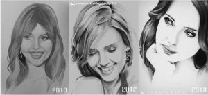 Jessica Alba Evolution by Martin--Art