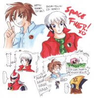 Future Netto and Enzan Copic Sketch Dump by SLiDER-chan