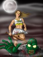 Zombies Vs Cheerleaders by Law-Li