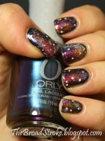 Nail Art: Galaxy Nails by ProlificMuse
