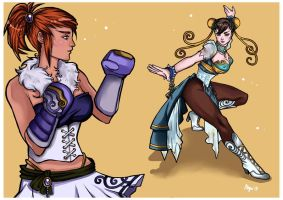 Art Nouveau Street Fighter commisson by FunkyShaeri