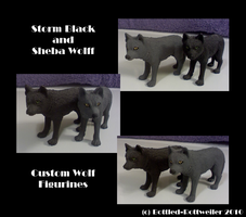 Storm and Sheba Figurines by Bottled-Rottweiler