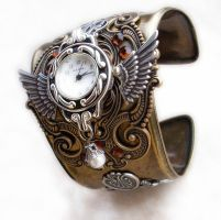 Steampunk Cuff Watch by Aranwen