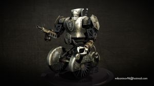 Knight - steampunk robot by wilzoon