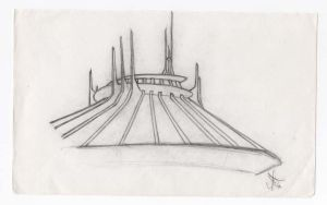 Space Mountain : Disneyland by LinaraQ