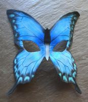 Blue Butterfly Mask by SilverCicada