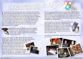 Vision Magazine: 2 Page Spread by operation182