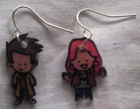 Cute Doctor n Donna earrings by Lovelyruthie