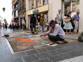 Street artist by MorningGlory34