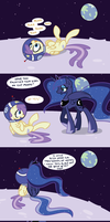 Luna Visits the Filly on the Moon by Faikie
