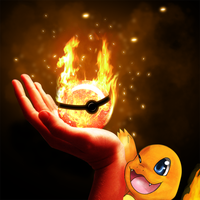 Fire type Pokeball by Deruuyo