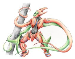 Deoxys - attack form by AnnaJ