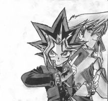 Yugi and Joey by Johnx13