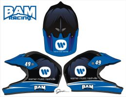 BAM over the wall helmets by Jenkins-Graphics