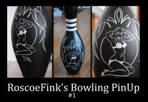 Bowling Pin-Up by Hepcat-Pinstriping