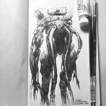 Ink and gouache. by duster132