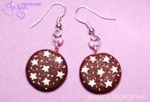 Pan Di Stelle cookie -Earrings by Jeyam-PClay