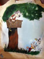 Calvin and Hobbes by mon-mothma