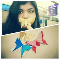 Origami Butterflies and World Origami Days! by HikaruLychee7